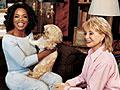 Oprah and Barbara Walters