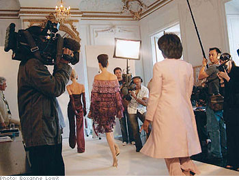 Oprah on the catwalk.