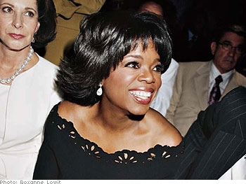 Oprah and her friend Marlene Veloz, July 2004