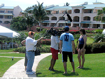 Harpo crew on the grounds of the Ritz-Carlton St. Thomas