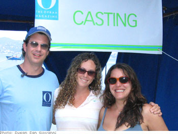 Adam Glassman with Erin Dotsey and Casting Director Olga Loriano