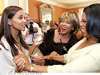 Oprah welcomes Halle Berry and Tina Turner