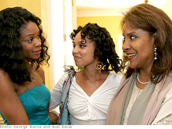 Kimberly Elise, Alicia Keys and Phylicia Rashad
