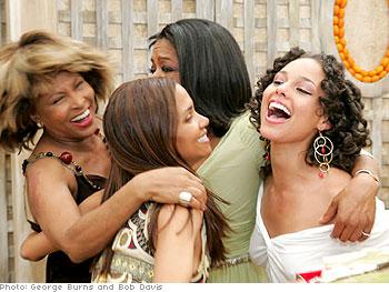 Tina Turner, Halle Berry, Oprah and Alicia Keys