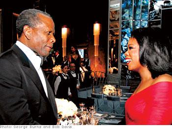 Oprah welcomes Sidney Poitier