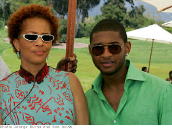 Terry McMillan and Usher