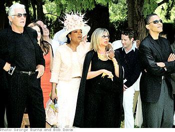 Guests at Oprah's gospel brunch