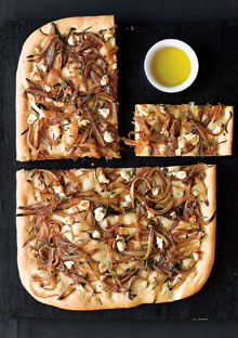 Focaccia with Onions and Goat Cheese