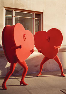 Hearts fighting