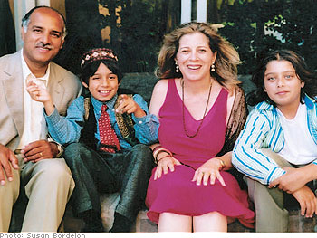 Syud and Karen with sons David and Benjamin