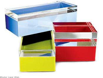 Alessandro Albrizzi Lucite boxes