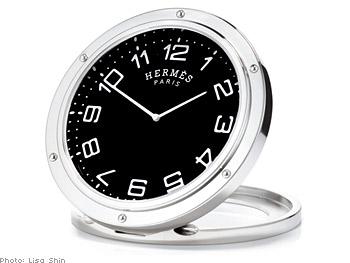 Hermès travel alarm clock