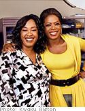 Shonda Rhimes and Oprah