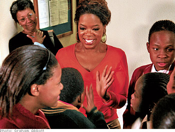 Many students are surprised to see that Oprah will be interviewing them herself.