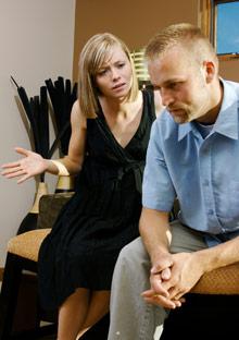 Woman nagging man