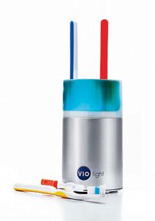 Self sanitizing toothbrush