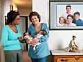 Oprah, Christine McFadden and her twin babies