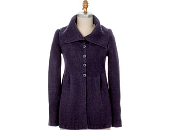 Deep plum cardigan