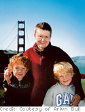 Pema Chodron with her grandchildren, Pete and James
