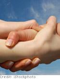 Hands of friendship