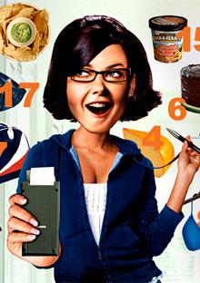 Woman doing weight loss math