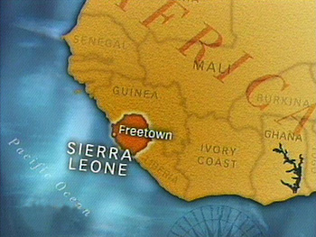 Sierra Leone suffered a bloody civil war.